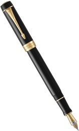Перьевая ручка Parker Duofold Classic International F74, Black GT (Перо F)