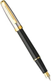 Перьевая ручка Sheaffer Prelude, Palladium Plated Cap Black Barrel GT (Перо F)