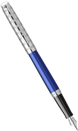 Ручка перьевая Waterman Hemisphere Deluxe 2020, Marine Blue CT (Перо F)